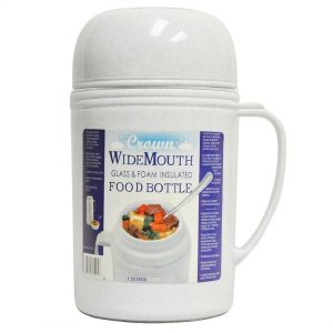 Royal-Crown 1.2, 1  And 0.5 L Wide Mouth Glass Food Thermos - Gray - CompuBoutique - Miami Florida