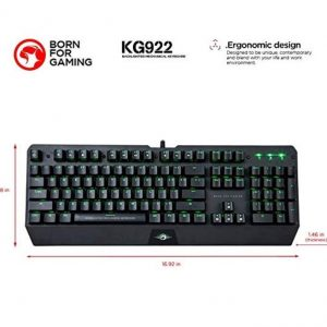 Scorpion Gaming Keyboard Green LED Lighted KG922 - CompuBoutique - Miami Florida