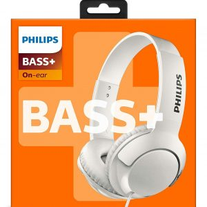 Philips BASS+ On Ear Headphones  In White SHL3070WT - CompuBoutique - Miami Florida