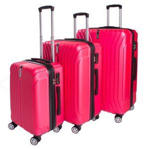 Wisdom 3-Piece Set 4 Wheels  Hardcase Luggage with TSA Lock EL-1930 - CompuBoutique - Miami Florida