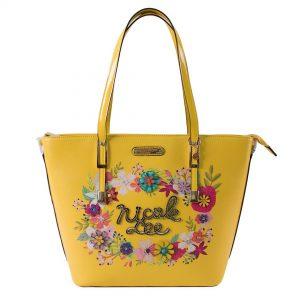 Nicole Lee  Flower Blossom Stylish Shopper 2 Piece Set Set FLO15260 Yellow - CompuBoutique - Miami Florida