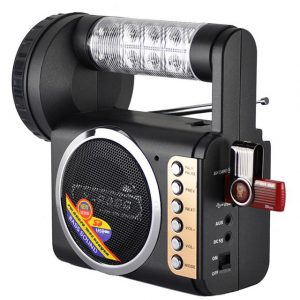 QFX R-57USR Portable FM Radio with USB/SD and Flashlight Built In Rechargeable - CompuBoutique - Miami Florida