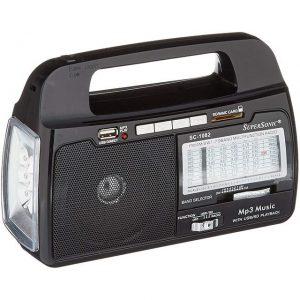 Supersonic AM/FM Radio 9 Band USB/SD Compatible and MP3 Playback SC-1082 - CompuBoutique - Miami Florida