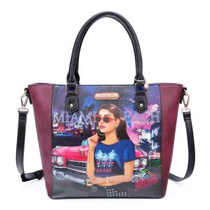 Nicole Lee Cruising In Miami Beach Shopper Bag  MIA15135 - CompuBoutique - Miami Florida